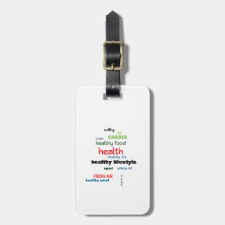 Healthy Lifestyle Word Cloud Luggage Tag