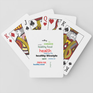 Healthy Lifestyle Word Cloud Playing Cards