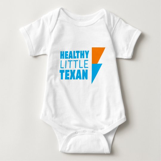 Healthy Little Texan - White Baby Bodysuit