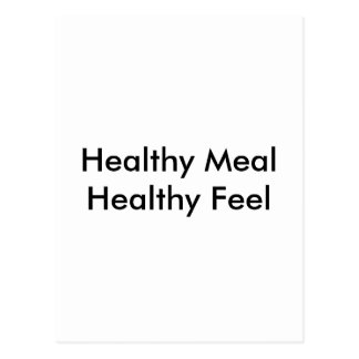 Healthy Meal Postcard