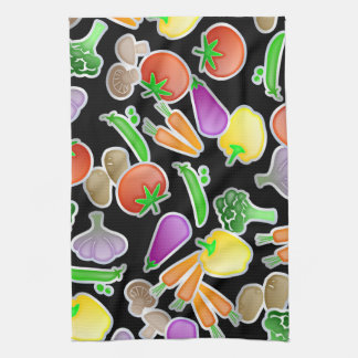 Healthy Mixed Vegetable Wallpaper Design Kitchen Towel
