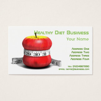 Healthy Natural Diet Business Card