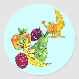 Healthy Nutritional Fruit Classic Round Sticker
