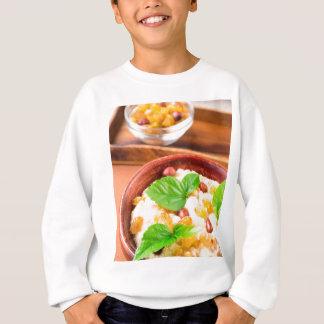 Healthy oatmeal with berries, raisins and herbs sweatshirt