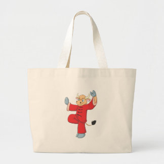 Healthy Ox Doing TaiChi Exercise Canvas Bag