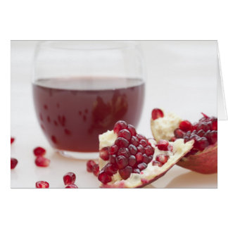 Healthy Pomegranate Juice Greeting Cards
