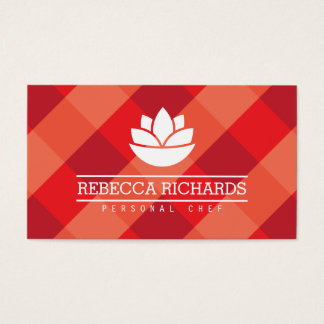 Healthy Salad Vegetables Catering Logo Red Business Card