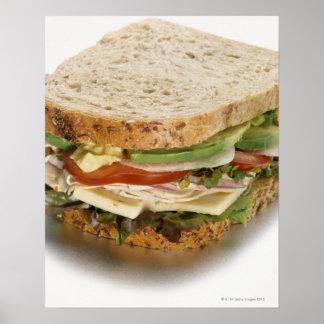 Healthy sandwich poster