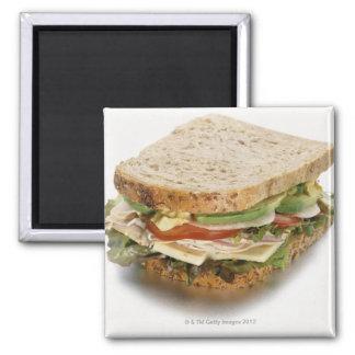 Healthy sandwich square magnet