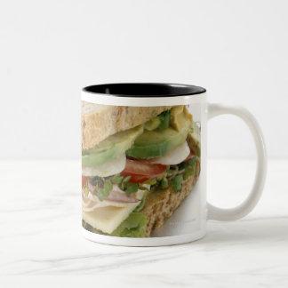 Healthy sandwich Two-Tone coffee mug