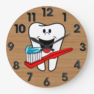 Healthy tooth large clock