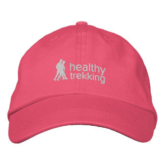 Healthy Trekking Pink Ribbon Embroidered Travel Embroidered Hat