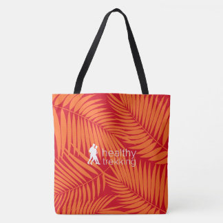 Healthy Trekking Tropical Palms Orange Beach Bag
