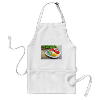 Healthy vegetarian dish of fresh vegetables standard apron
