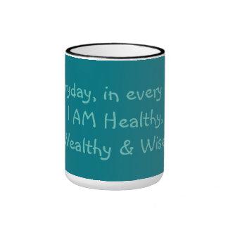 Healthy, Wealthy & Wise Ringer Coffee Mug