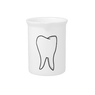 Healthy White Tooth Beverage Pitcher