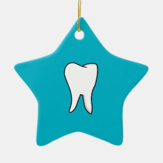 Healthy White Tooth Ceramic Star Ornament