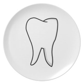 Healthy White Tooth Dinner Plate