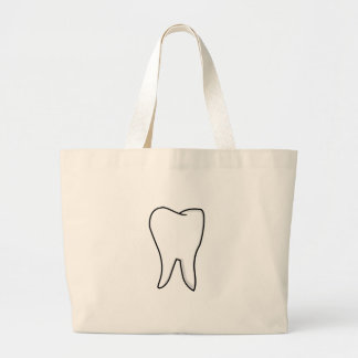 Healthy White Tooth Large Tote Bag