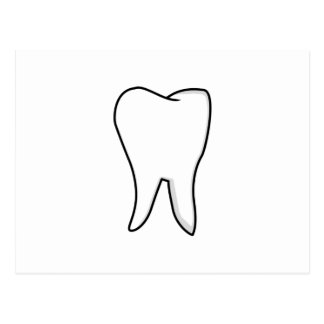 Healthy White Tooth Postcard