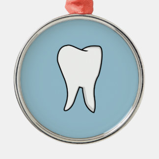 Healthy White Tooth Silver-Colored Round Ornament