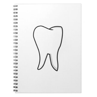 Healthy White Tooth Spiral Notebook