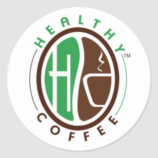 HealthyCoffee branded Self Adhesive stickers