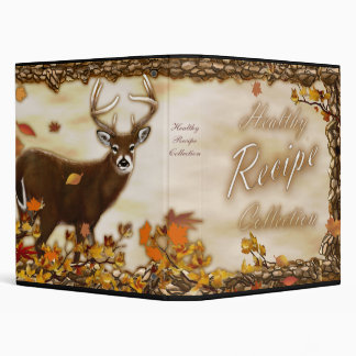 Healty Recipe Collection 3 Ring Binder