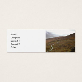Healy Pass, Winding Road in Ireland. Mini Business Card