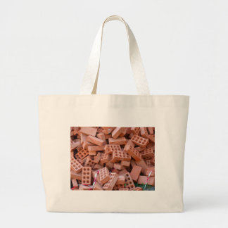 Heap bricks large tote bag
