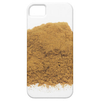 Heap of cinnamon powder on white background iPhone 5 case