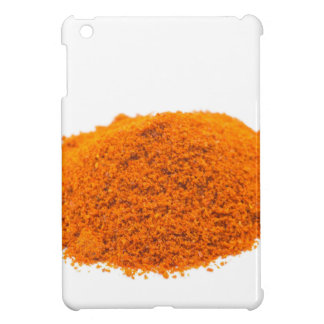 Heap of spice cayenne pepper powder on white iPad mini cover