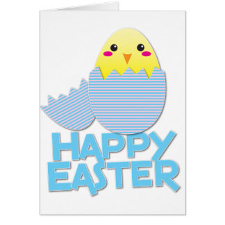 heappy easter super cute chick card
