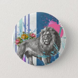 """hear me roar"" button badge"