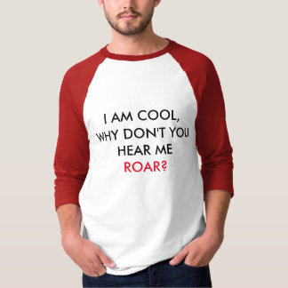 Hear me ROAR! Men Basic 3/4 sleeve shirt