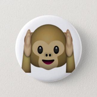 Hear No Evil Monkey - Emoji 2 Inch Round Button