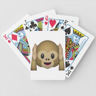 Hear No Evil Monkey - Emoji Bicycle Playing Cards