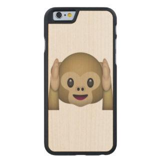 Hear No Evil Monkey - Emoji Carved Maple iPhone 6 Case