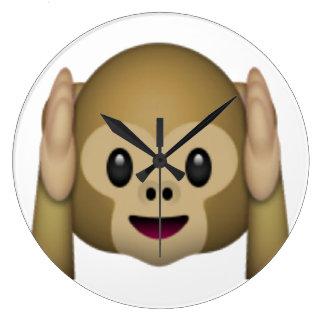 Hear No Evil Monkey - Emoji Clocks
