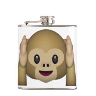 Hear No Evil Monkey - Emoji Hip Flask