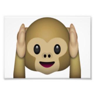 Hear No Evil Monkey - Emoji Photo Print