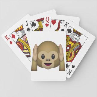 Hear No Evil Monkey - Emoji Poker Deck