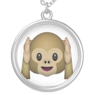 Hear No Evil Monkey - Emoji Silver Plated Necklace