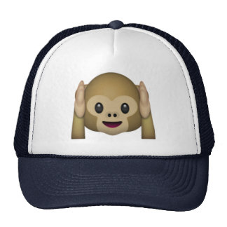 Hear No Evil Monkey - Emoji Trucker Hat