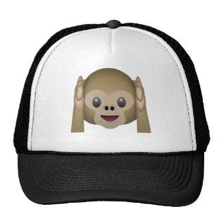 Hear No Evil Monkey Emoji Trucker Hat