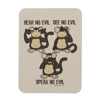 Hear No Evil Monkeys - New Magnet