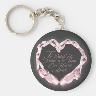 Hear Our Ballet Hearts Basic Round Button Keychain