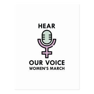 Hear Our Voice Postcard