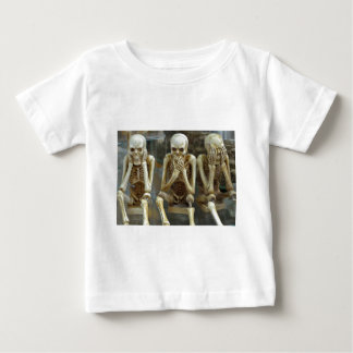 Hear, Speak, See No Evil Skeletons Baby T-Shirt