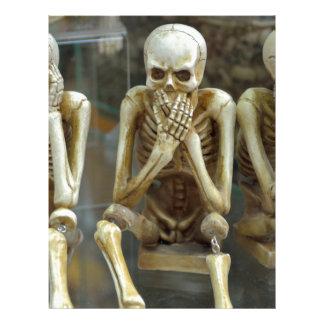 Hear, Speak, See No Evil Skeletons Letterhead